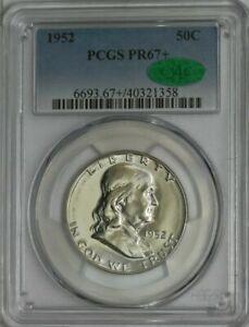 1952 Franklin Proof Silver 50C, Half Dollar PR67+ Plus, PCGS - CAC