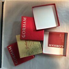 4 pcs Gorham ornament box set #6 2017, 2015, 2010, 2006 Snowflake Boxes