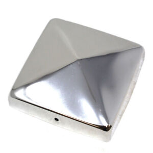 """PREMIUM 4"""" (100mm) STAINLESS STEEL FENCE POST CAP - POLISHED FINISH 20mm FLANGE"""