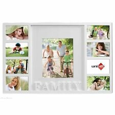 UniGift FAMILY 9 in 1 Wooden Photo Collage Frame WHITE GIFT DECOR