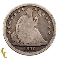 1840-O No Drapery Silver Seated Liberty Dime 10C (Good, G Condition)