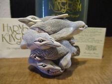 Harmony Kingdom Rookery Rave Chinstrap Penguins Ukmade Marble Resin Box Figurine