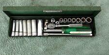 VINTAGE S-K TOOLS 1/4  drive shallow / deep socket set SAE