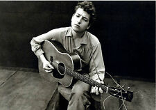 BOB DYLAN 1962 NYC Guitar FOLK B&W FRAMED PRINT C@@L !!