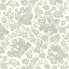 Moda 3 Sisters Whitewashed Cottage Floral Damask Fabric in Linen Grey 44062-21