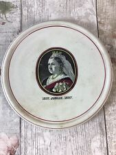 Queen Victoria Jubilee 1887 Teapot Stand Pot Stand Antique No Backstamps