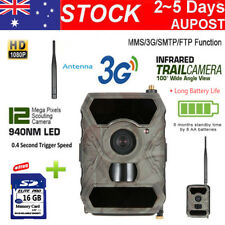 3G Trail Camera MMS 12MP Audio Scouting Hunting Cam 940NM IR 3G Model+Free16G SD