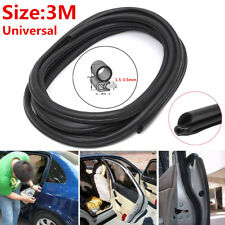 "120"" Rubber Seal Car Door Trunk Lip Edge Protector Strip Waterproof Anti-Noise"