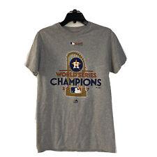 Houston Astros Majestic 2017 World Series Champions Locker Room LS T-Shirt Small