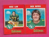1971 OPC CFL EDMONTON ESKIMOS  NRMT  CARD LOT  (INV# C6570)