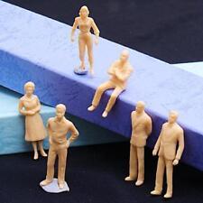100pcs Figurine Personnage Non Peint Modèle Train Maquette Echelle O 1:50