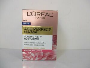 L'oreal Age Perfect Rosy Tone Cooling Night Moisturizer 1.7oz  Exp 6/23 Jl 13454