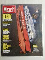 N1242 Magazine Paris-Match N°1973 20  mars 1987 Johnny Nathalie, Ferry tragique