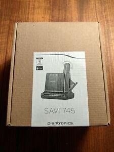 Brand New Plantronics Savi W745-M Wireless Headset System - Black