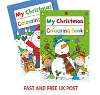 Childrens My Christmas colouring activity book stocking filler boys girls UK