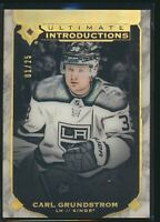 2019-20 Upper Deck Ultimate Introductions RC Onyx 01/25  UI-18 Carl Grundstrom