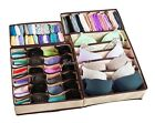 4x Drawer Closet Organizer Storage Box Underwear Bra Sock Tie Cosmetic Container