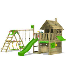 FATMOOSE CountryCow Maxi XXL Wooden Climbing Frame TreeHouse SurfSwing Slide
