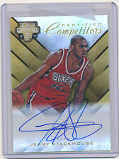 Jerry STACKHOUSE Gold Mirror Auto Card #7/10 - 2015-16 Panini Totally Certified