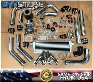 79-93 Mustang 2.3L Thunderbird Ranger T3T4 .63 Turbo Kit Manifold Intercooler CH