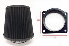 Black Air Intake Filter + MAF Sensor Adapter For 95-01 Mazda B4000 4.0L V6