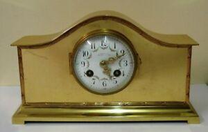 French 8 day brass cased mantel clock - £595