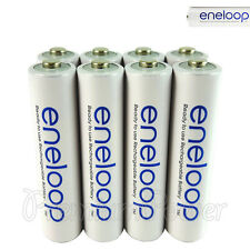 8 x Panasonic Eneloop AAA batteries 750mAh Rechargeable Accu Ni-MH HR03 Phones