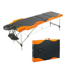 Portable 3 Fold Massage Table Aluminum Facial Spa /Tattoo Bed with Carry Case