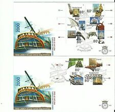 NETHERLANDS 2000 , First Day Cover 422 , Sail Amsterdam  FDC (2 covers)  (nl)