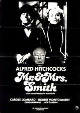 Mr. & Mrs Smith ORIGINAL A1 Kinoplakat Alfred Hitchcock / Carole Lombard