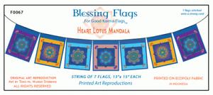 """Heart Lotus"" Mandala Blessing Flag by Good Karma Flags"