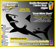 Great White Shark Vinyl Decal Sticker - Car, Boat, Laptop, Window, 16 Colours!