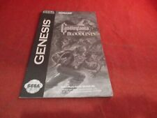 Castlevania Bloodlines Sega Genesis Instruction Manual Booklet ONLY #B1