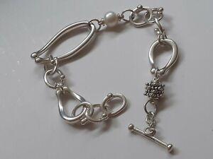 silver michael dawkins pearl bracelet 14k gold small beads
