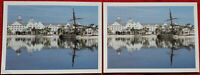 Disney's Yacht Club Resort - Pair Of Unused Linen Postcards - Beach Shipwreck