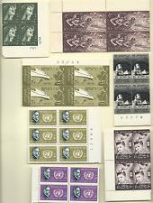 EGYPT 1956, 1959, 1961 BLOCKS OF 4 MNH SCOTT #s 388, 479, 542, 547, 549, 574-5