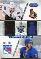 12/13 CERTIFIED PATH TO THE CUP JERSEY NICK FOLIGNO CHRIS KREIDER 034/250 *47352