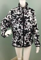NWT Women's Ralph Lauren Floral Zip Up Draw Cord Waist Jacket Sz XL Extra Large