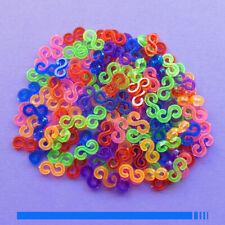 Lot de 100 S Clips Couleur pour fabrication de bracet elastique