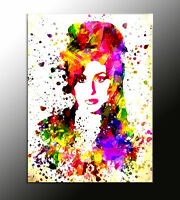 QUADRO astratto Amy Winehouse action color già montato su telaio quadro moderno