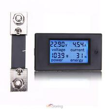 100A 100V LCD DC Digital Watt KWH Current Power Energy Meter Ammeter Voltmeter S
