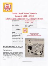 DAVE BOWEN ARSENAL 1950-1959 RARE ORIGINAL HAND SIGNED MAGAZINE CUTTING