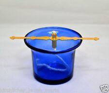 Glas für Öllampe Halter und Docht стакан лампадный стеклянный синий держатель