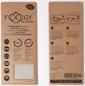 Antibeschlagtuch Mikrofaser Foogy Brille Reinigungstuch Kameralinse Das Original