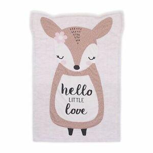 Little Love by NoJo Deer Shaped Polyester Baby Girl  Blanket W sherpa  in Grey