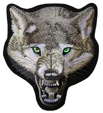 Patche dorsal dos grand écusson grande taille Loup patch brodé