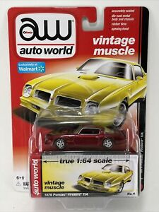 Walmart Exclusive 2016 Auto World AW RED 1976 PONTIAC TRANSAM FIREBIRD T/A CHASE