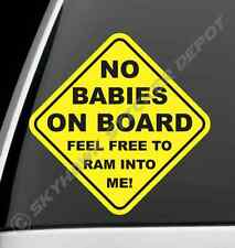 No Baby On Board Funny Bumper Sticker Vinyl Decal Car Joke Sticker For Jeep Ford