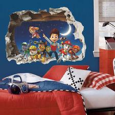 Adesivo parete 3D PAW Patrol murale Cameretta bambini Wall Stickers cartoni