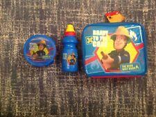 Fireman Sam Drinks Water Bottle Kids drink Lunch Box Bag Snack Pot